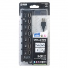 7-Port USB 2.0 HUB w/ Individual Switch - Black