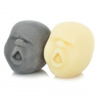 Black + White Face Expression Stress Reliever Venting Ball