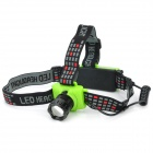 Cree Q5 250-Lumen 3-Mode White LED Zoom Headlamp - Black + Green (3 x AAA / 1 x 18650)