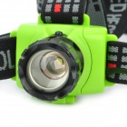 250-Lumen 3-Mode White LED Zoom Headlamp - Black + Green (3 x AAA / 1 x 18650)