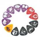 0.46/0.71/0.81mm Guitar Pick Set (12-Piece)