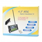 "4.3"" TFT LCD ATSC Digital Handheld TV for USA / Canada / Mexico - Black"