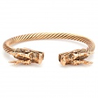 Stylish Zinc Alloy Dragon Head Bracelet - Bronze