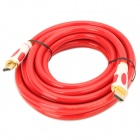 24K Gold Plated 3D 1080P HDMI V1.4 Male to Male Connection Cable - Red (5M-Length)