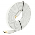1080P HDMI 1.4 Male to Male Flat Connection Cable - White (300cm)