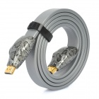 2160P HDMI V1.4 Male to Male Flat Connection Cable - Silver (120cm)