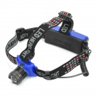 310-Lumen 3-Mode White Zoom LED Headlamp - Black + Blue (3 x AAA / 1 x 18650)