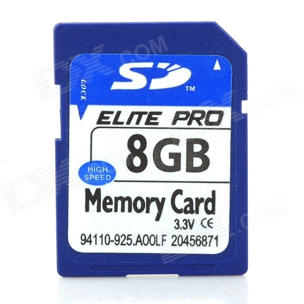 SD Memory Card - Blue (8GB) last card played