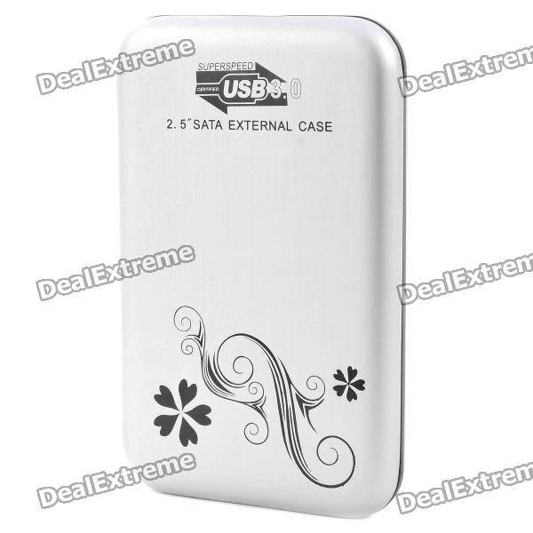 "2.5"" USB 3.0 Mobile External Hard Drive Storage Device - Silver (500GB)"