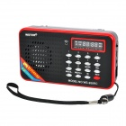 "1.6"" LED MP3 Player Speaker w/ FM / Voice Recorder / TF / USB - Black"