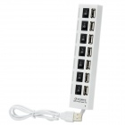 7-Port High Speed USB 2.0 Hub - Black + White (60cm-Cable Length)