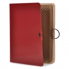 Protective Real Leather Case for iPad 2 / The New iPad - Deep Red