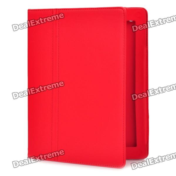 Stylish Protective PU Leather Case for Ipad 2 / The New Ipad - Red