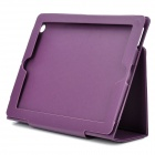 Stylish Protective PU Leather Case for Ipad 2 / The New Ipad - Purple