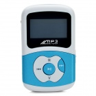Mini Rechargeable MP3 Player Music Speaker w/ FM Radio - Blue + White (4GB)