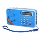 "1.6"" LED MP3 Player Speaker w/ FM / Voice Recorder / TF / USB - Blue"