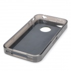 Protective ABS Cover Case for Iphone 4/4S - Green + Transparent Black