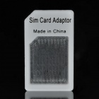 Micro SIM Card to Standard SIM Card Adapter - White