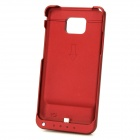 2000mAh External Backup Battery Pack Case w/ Speaker for Samsung Galaxy S2 I9100 - Deep Red