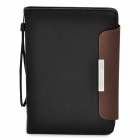 Protective Leather Case Cover for Galaxy P6800 - Black + Brown