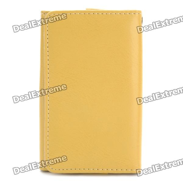Protective Wallet Style Leather Case for Iphone - Light Yellow