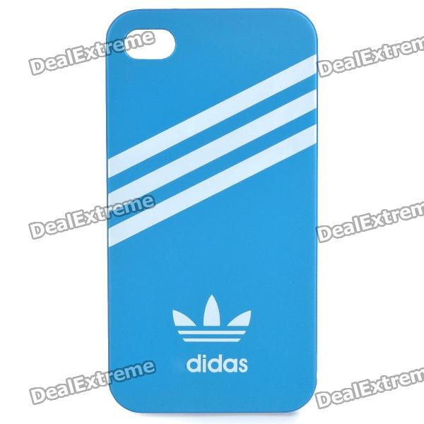 Protective Sports PVC Back Cover Case for iPhone 4/4S - Blue