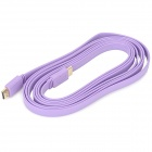 1080P HDMI 1.4 Male to Male Flat Connection Cable - Purple (300cm)