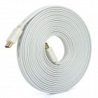 1080P HDMI 1.4 Male to Male Flat Connection Cable - White (500cm)
