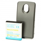Replacement 3.7V 4000mAh Extended Battery Pack + Back Case for Samsung i515 - Black + White
