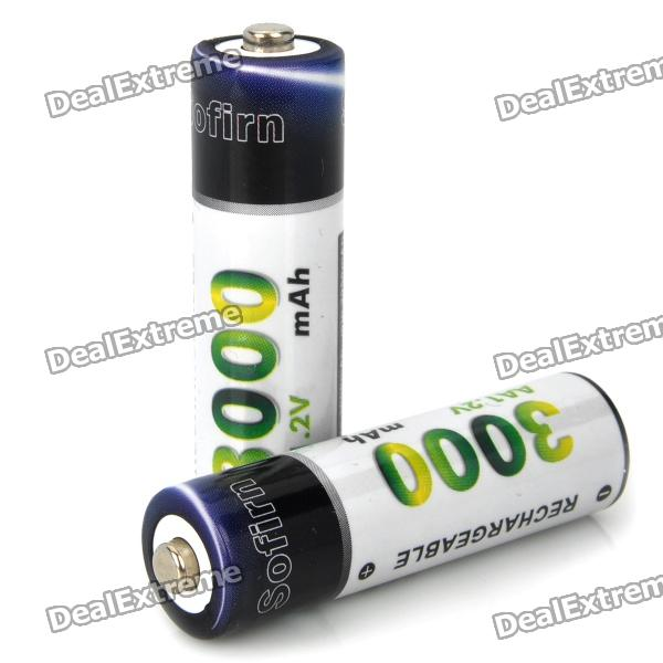 Sofirn AA 1.2V 3000mAh Rechargeable NI-MH Batteries (Pair)
