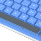 Waterproof Soft Foldable Bluetooth V3.0+HS 84-Key Keyboard for Ipad 2 / the New Ipad - Blue