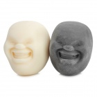 Cao maru stress reliever balls lovely laughing faces - white + black