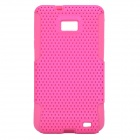 Protective Plastic Rubber Case for Samsung i9100 - Rosy