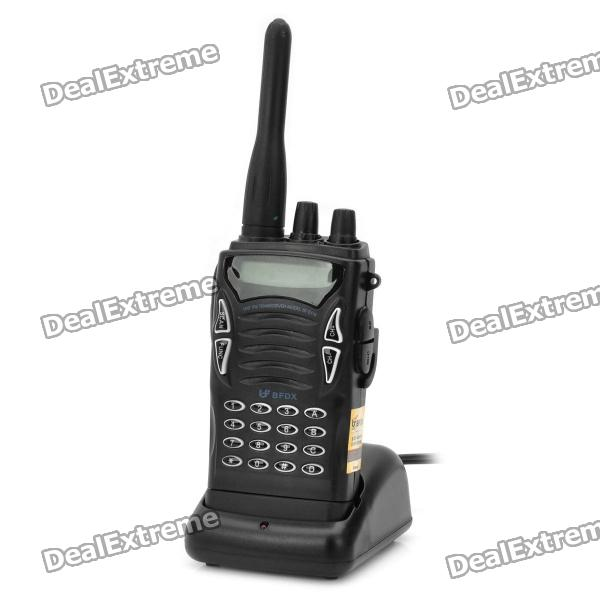 BFDX VF-5118 5W 400-450MHz 100-Channel Walkie Talkie - Black (1-Pack)
