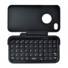 Rechargeable Bluetooth V2.0 + EDR 49-Key Keyboard Hard Case for iPhone 4 / 4S - Black
