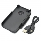 Recargable Bluetooth V2.0 + EDR 49-Key Keyboard duro caso para Iphone 4 / 4S - Negro