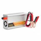 800W Car DC 12V to AC 220V Power Inverter w/ USB Output - Silver