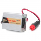 100W Car 12/24V DC to 220V AC Power Inverter - Silver