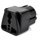 German to EU Plug Adapter - Black (250V)