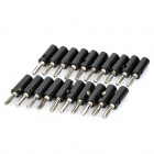 Loudspeaker Cable Banana Plugs Connectors - Black + Silver (20-Piece Pack)