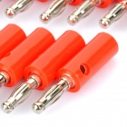 Altifalante por Cabo Banana Plugs Conectores - Red + Silver (Lanterna / 20-Piece Pack)