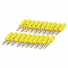 Loudspeaker Cable Banana Plugs Connectors - Yellow + Silver (Lantern / 20-Piece Pack)