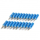 Plátano de altavoz Cable Plugs Connectors - azul + Plata (20-Piece Pack)