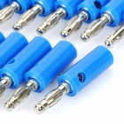 Loudspeaker Cable Banana Plugs Connectors - Blue + Silver (Lantern / 20-Piece Pack)