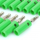 Loudspeaker Cable Banana Plugs Connectors - Green + Silver (Lantern / 20-Piece Pack)