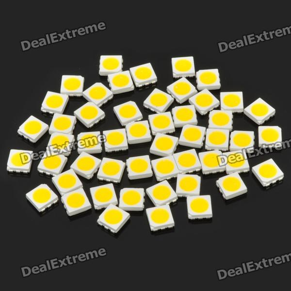 0.2W 10~12LM 2800~3550K Warm White Light 5050 SMD LED Emitters (50-Piece Pack)