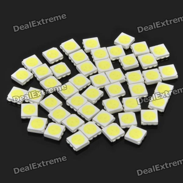 0.2W 10~12LM 10000~12000K Cold White Light 5050 SMD LED Emitters (50-Piece Pack)