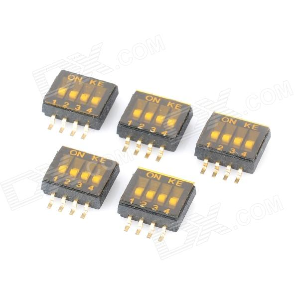 DIY 4 Posição 8 Pin Dip Switches 1,27 milímetros Pitch (5-Piece Pack)
