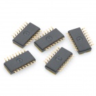 DIY 8-Position 1.27mm Half Pitch Type Dip Switches - Black + Golden (5-Piece Pack)