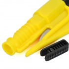 3-in-1 Whistle + Seat Belt Cutter + Window Break Keychain - Yellow